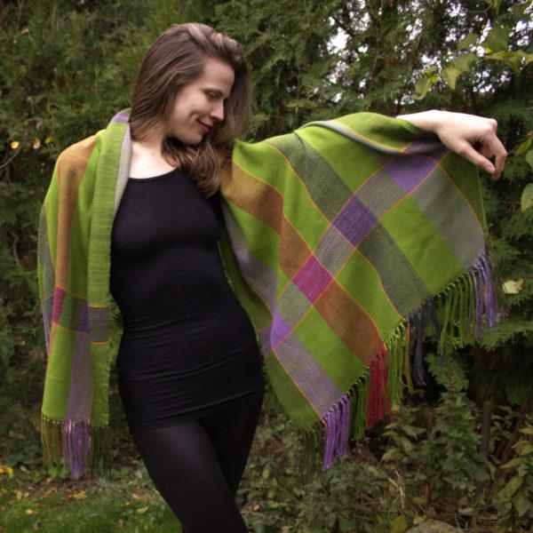 handmade tkaný šál
