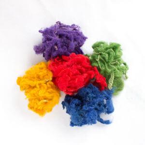 leicester pramínky barvené