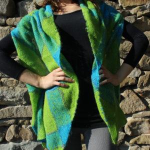 ručně pletený šál