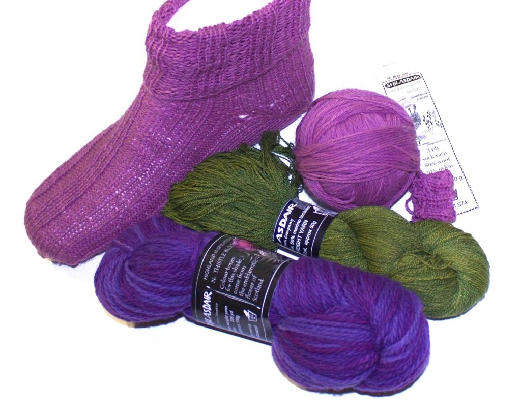 ručně pletená ponožka