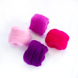 paleta fialových a růžových roun
