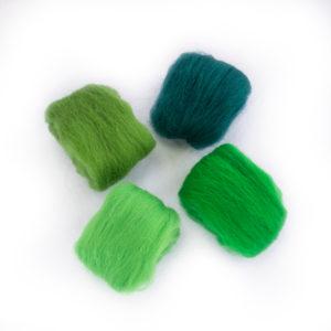 paleta zelených vln